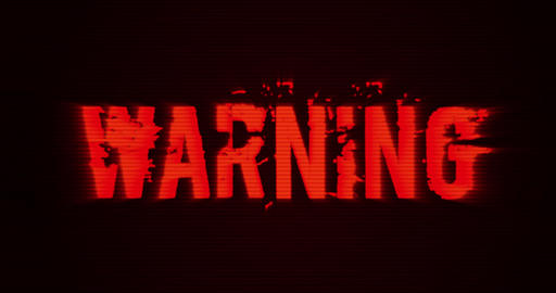 Warning Sign Background Animation