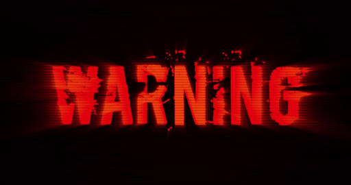Warning Sign Background Stock Video Footage