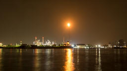 Oil Refinery Station. (Time lapse) 영상물