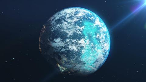 Earth Rotation Loop Animation
