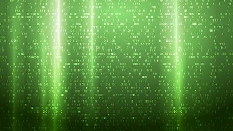 Glowing green technology binary code video animation Animation