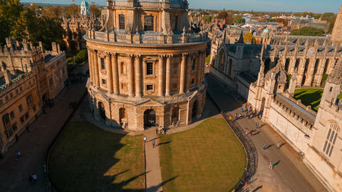 Radcliffe Camera and the All Souls College, Oxford University, UK Live Action