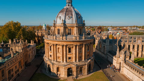Radcliffe Camera and the All Souls College, Oxford... Stock Video Footage