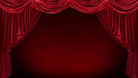 Red curtain with on red background Animation