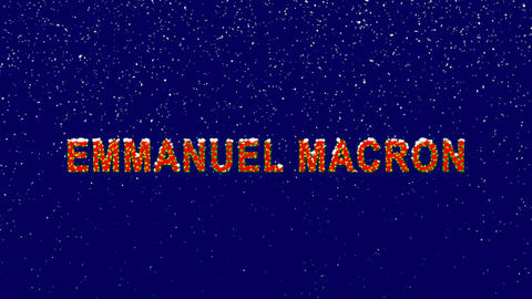 New Year text Person of the World Politics EMMANUEL... Stock Video Footage