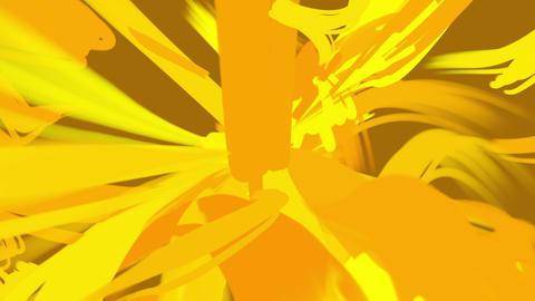 paint stroke loop_gold Stock Video Footage