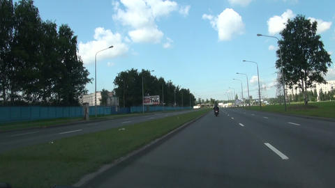 Journey on a city highway on high speed Stock Video Footage