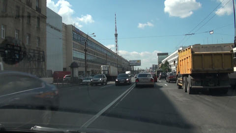 The transport stream, cars and automobiles Stock Video Footage