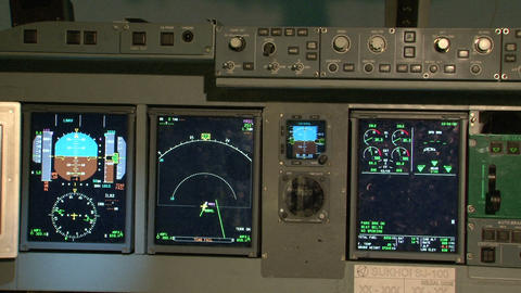 The instrument panel of the aircraft Footage