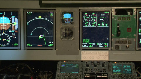 The instrument panel of the aircraft Stock Video Footage