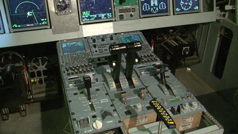 The cabin of the aircraft Stock Video Footage