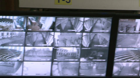 Control video surveillance Stock Video Footage