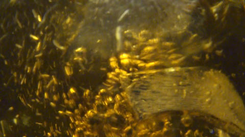 Whiskey poured in a glass Stock Video Footage