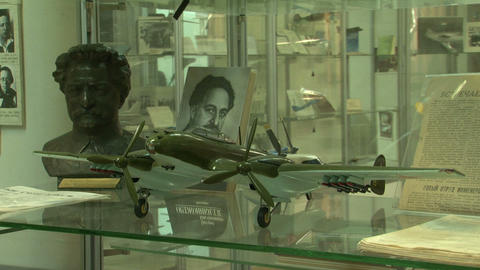 Model aircraft in the museum Footage