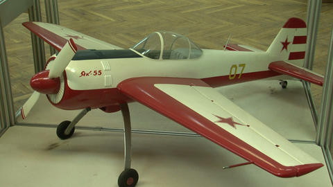 The model of the plane YAK-55 Stock Video Footage