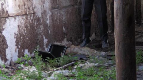 foot hanged man Stock Video Footage