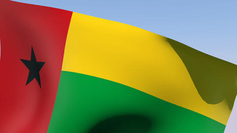 Flag of Guinea-Bissau Stock Video Footage