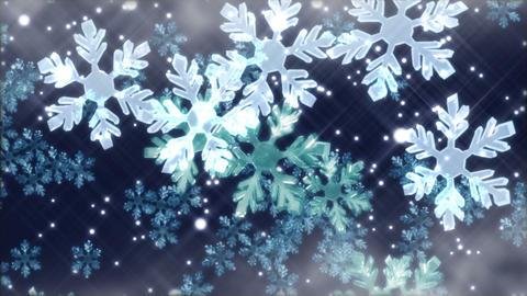 Crystal snow 1 B Stock Video Footage