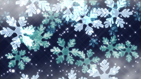 Crystal snow 1 B Stock Video Footage