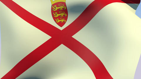 Flag of Jersey Stock Video Footage
