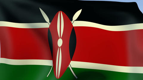 Flag of Kenya Stock Video Footage