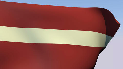 Flag of Latvia Stock Video Footage