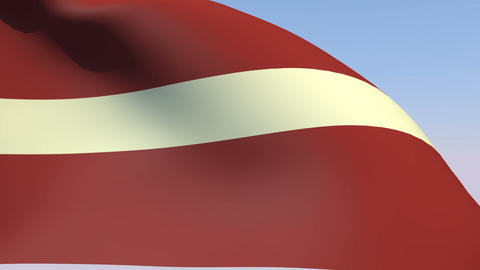 Flag of Latvia Animation
