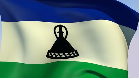 Flag of Lesotho Animation