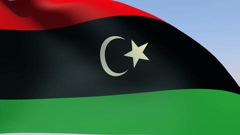 Flag of Libya Animation