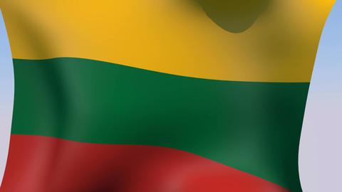 Flag of Lithuania Animation
