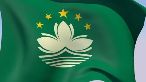 Flag of Macau Animation