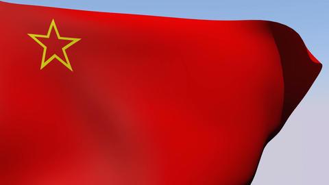 Flag of Macedonia Socialist Republic 1946-1991 Stock Video Footage