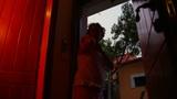 Woman Talking To A Boy - Low Key stock footage