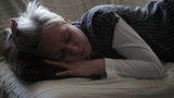 Relaxed Woman Sleeping stock footage