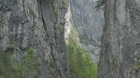 Cliff Vertical High Ravine Footage