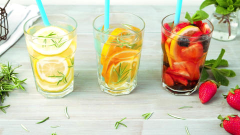 Detox water cocktails Footage