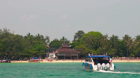 Passenger Motor Boat Transporting Tourists stock footage