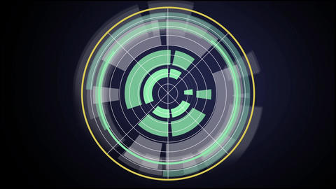 Sci fi hi-tech design element rotating circles HUD After Effects Template