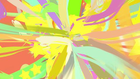 paint stroke and star loop_orange CG動画素材
