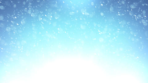 Abstract Blue Bubbles Background Animation