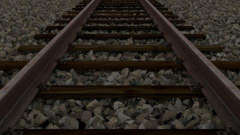 railway track loop Animation