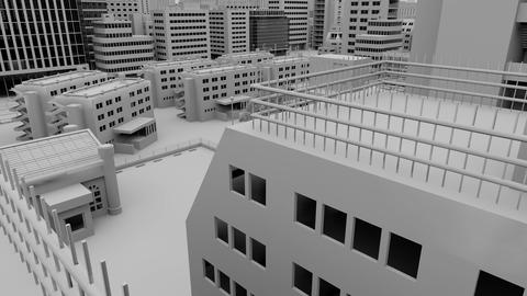 [alt video] cityscape _ white background