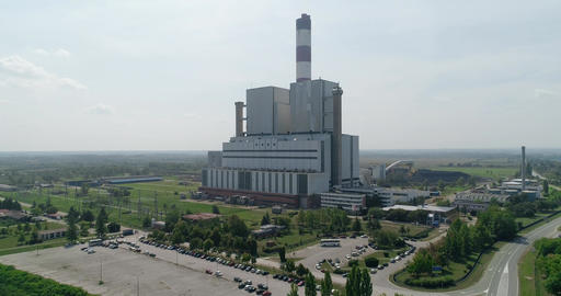 Thermal power plant 05 Footage
