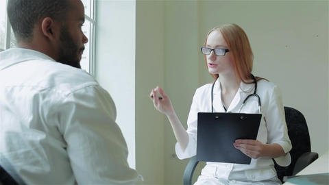 Man listening to consult your doctor Live Action