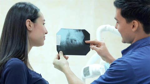 X-rays of the teeth of the patient Footage