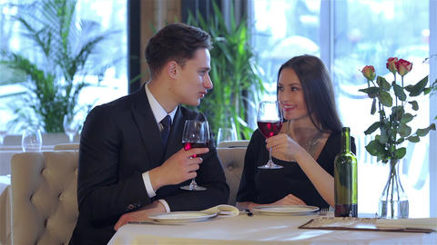 Romantic dinner in the restaurant Live Action