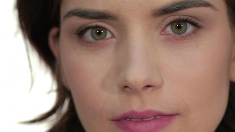 Close-up portrait of woman eye with perfect health skin of face Live Action