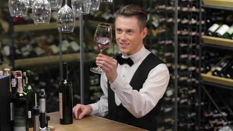 Confident and experienced sommelier Live Action