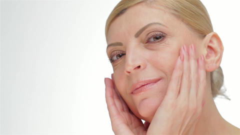 Healthy skin middle-aged women Live Action