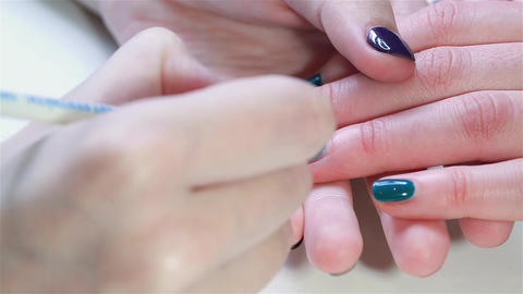Patterned nails panther Footage